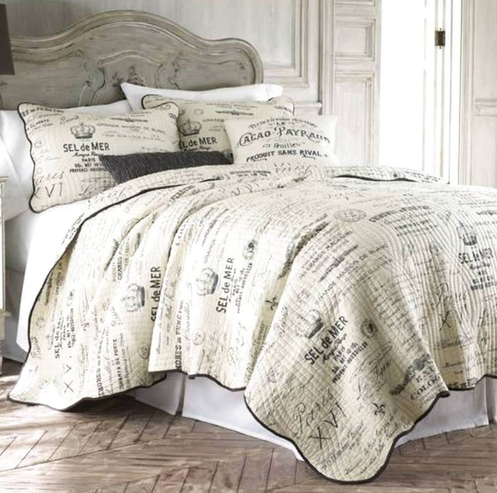 LYON PARIS APT FULL QUEEN QUILT + SHAMS FRENCH COUNTRY