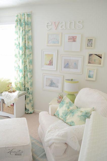 Girl Nursery Gallery Wall Green And Blue Benjamin Moore