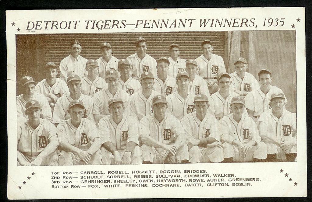 1935 Detroit Tigers Detroit Tigers Detroit Michigan Detroit
