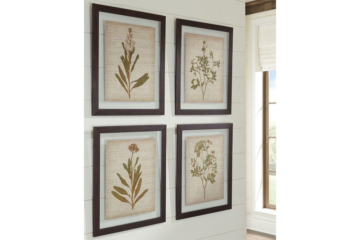 Dyani wall art set of 4 ashley furniture homestore
