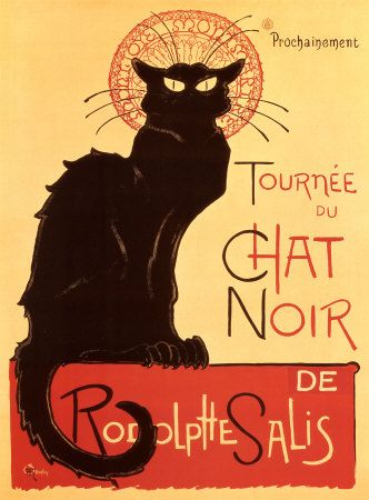 Tournee Du Chat Noir 1896 Théophile Alexandre Steinlen vintage Ad style print