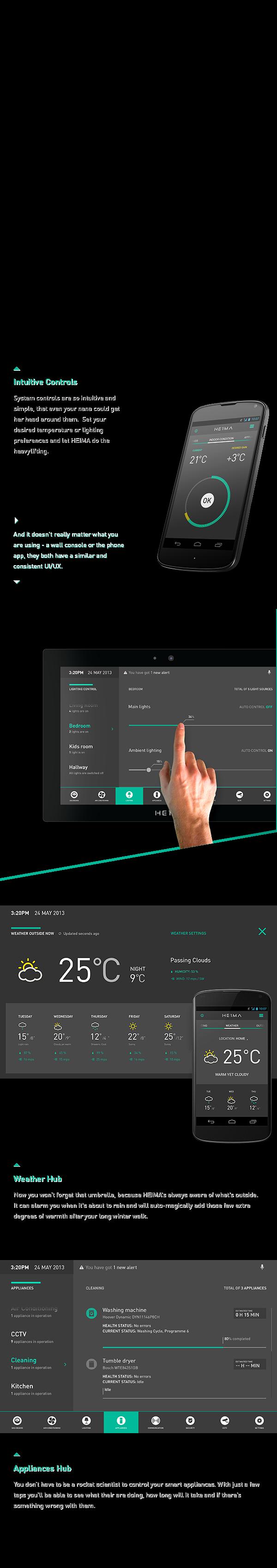 HEIMA. Smart Home Automation UI. by Dmitrij Paškevič, via Behance ...