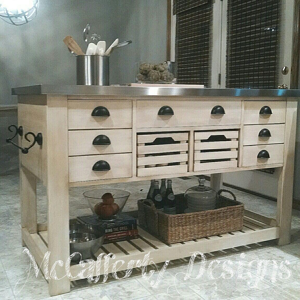 Kitchen Island Diy Projects: KitStainless Kitchen Island, Custom Built