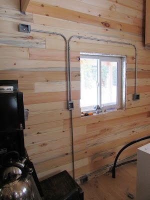 installing surface mounted wiring sediu kangen home electrical rh pinterest com wiring my log cabin installing log cabin windows