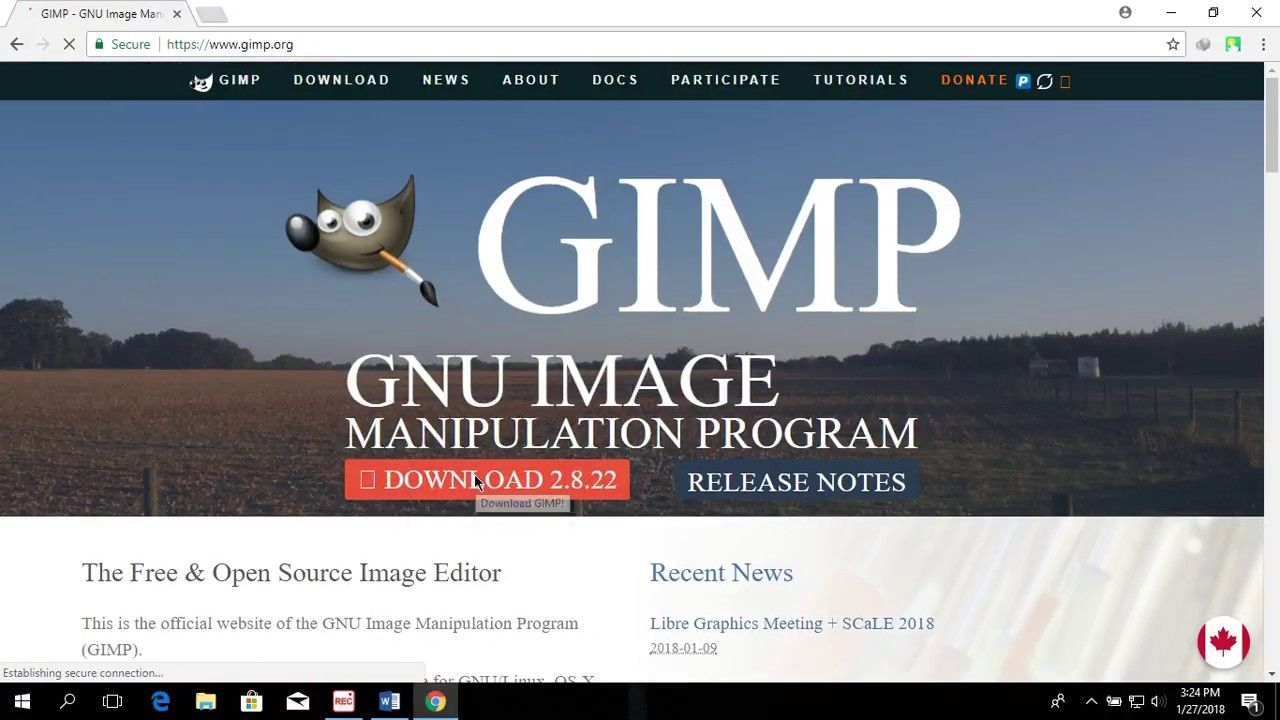 Tutorial] How to download and install Gimp for Pc |Gimp photo