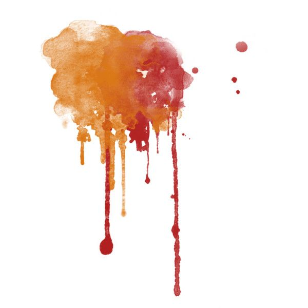 Watercolor Drips Liked On Polyvore Featuring Splashes Effects