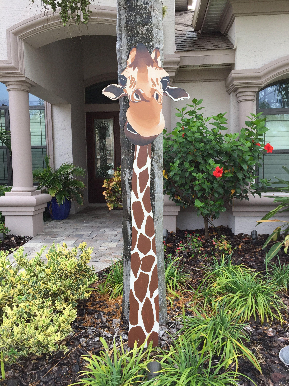 Giant Giraffe Yard Art Fence Peeker By Sharloucreations On Etsy