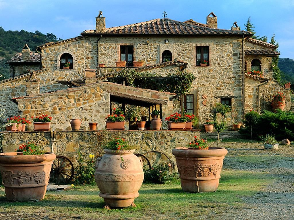 Villa in Seggiano (Italy) Fachada toscana Pinterest
