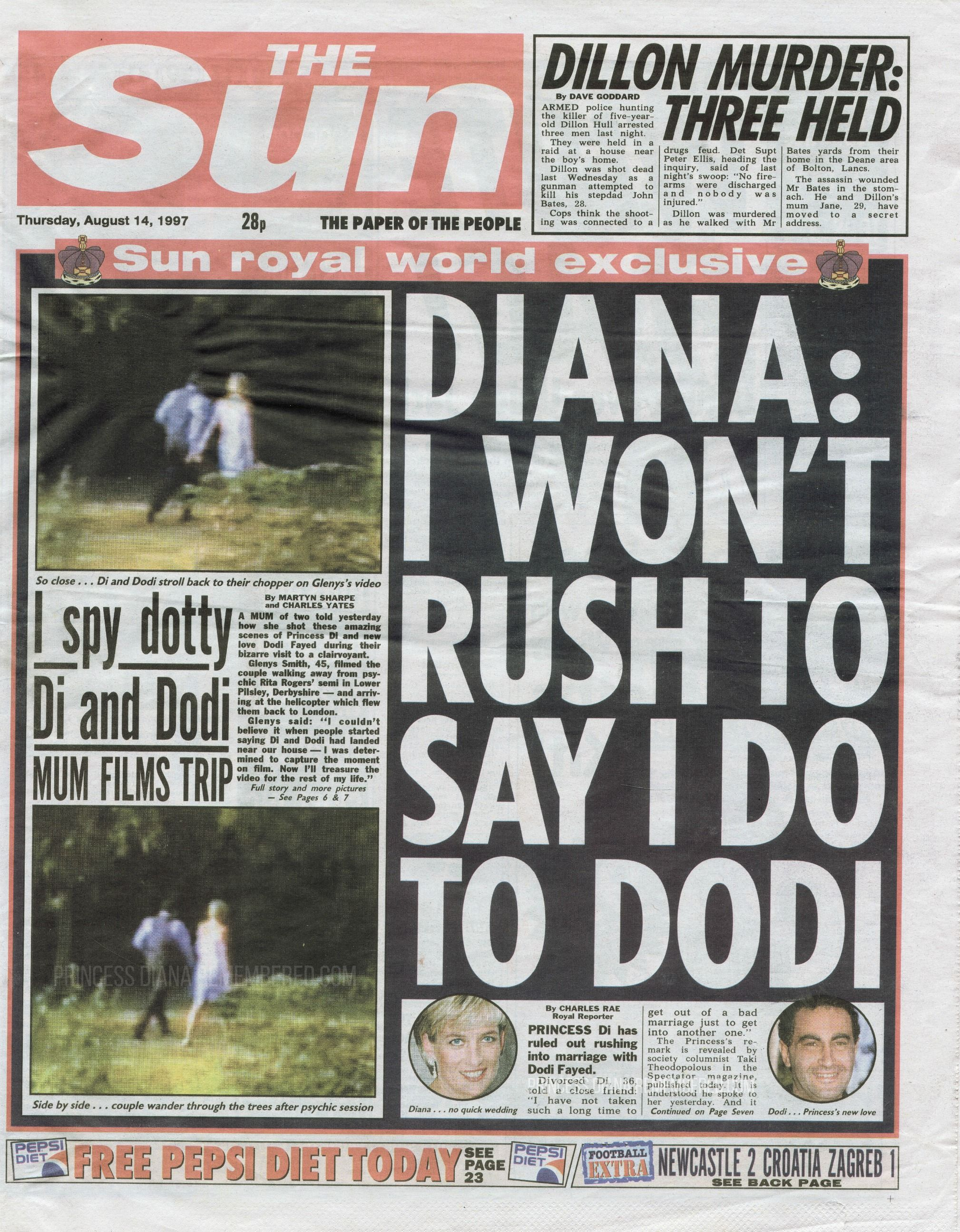 The Sun Newspaper Sensationally Made These Claims But The British People Never Really Believed That Princess Diana Princess Diana Rare Princess Diana And Dodi