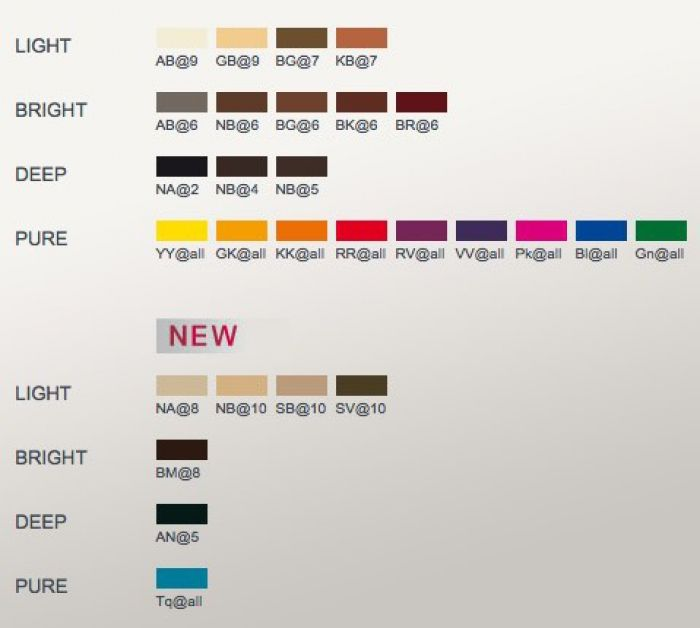 ElumenHairColourChartColorDevelopers