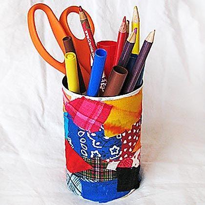 Scrap Cloth Pencil Holder