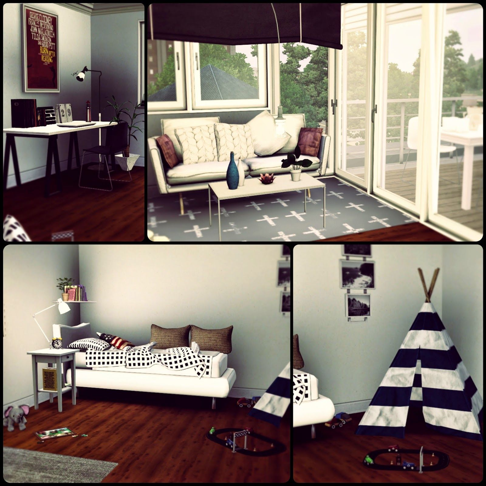 Marvelous Simberry Apartment 4D / Kids Room / Sims 3 / Download