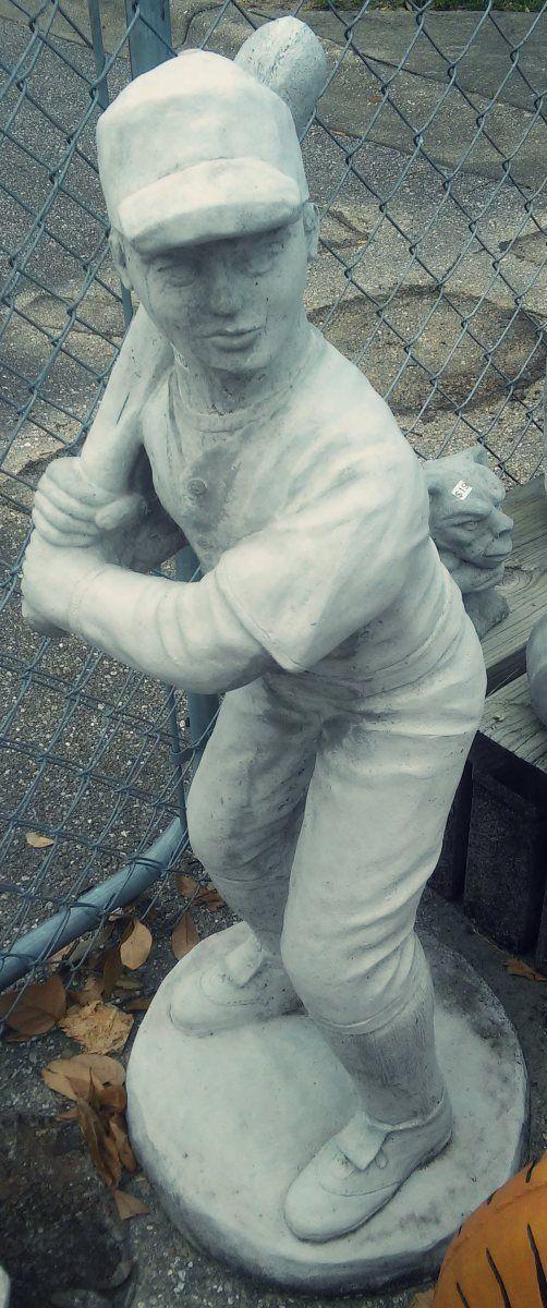 Marvelous Baseball Player   Concrete Garden Art In Tallahassee, Florida Concrete  Garden, Concrete Statues,
