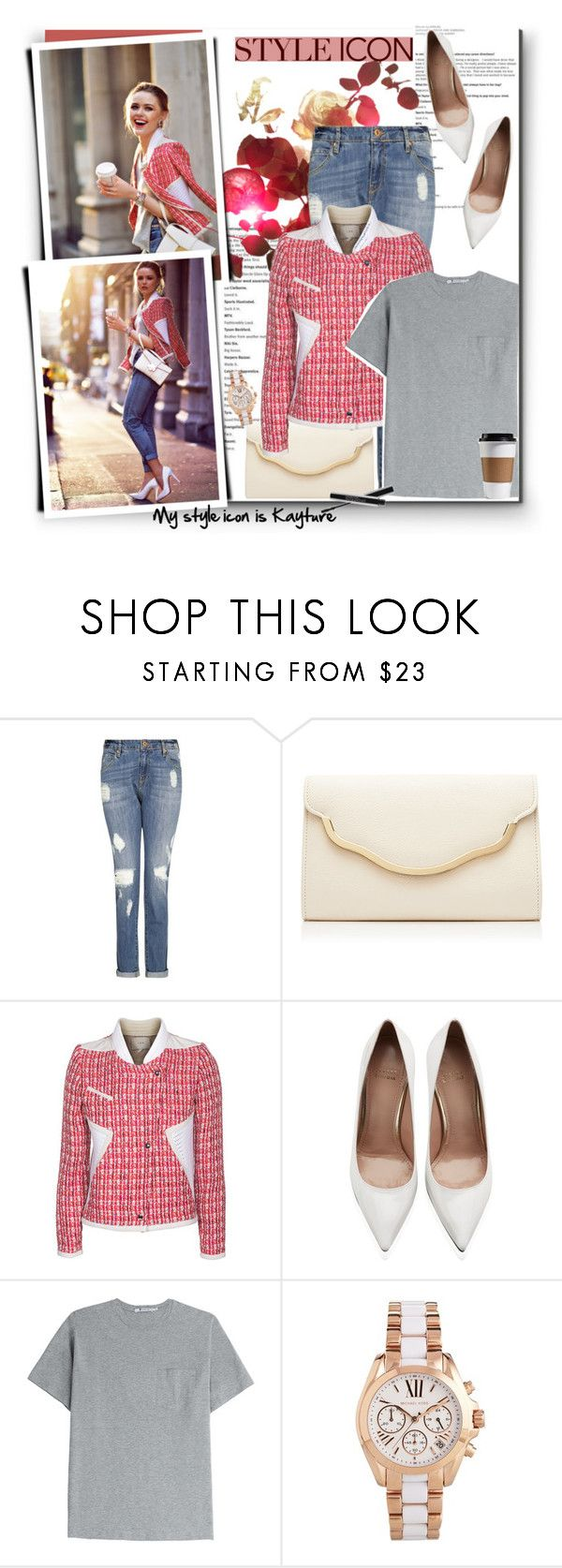 """""""No 237:My Style Icon is Kayture"""" by lovepastel ❤ liked on Polyvore featuring MANGO, Forever New, IRO, Stuart Weitzman, T By Alexander Wang, Michael Kors, Smashbox and styleicon"""
