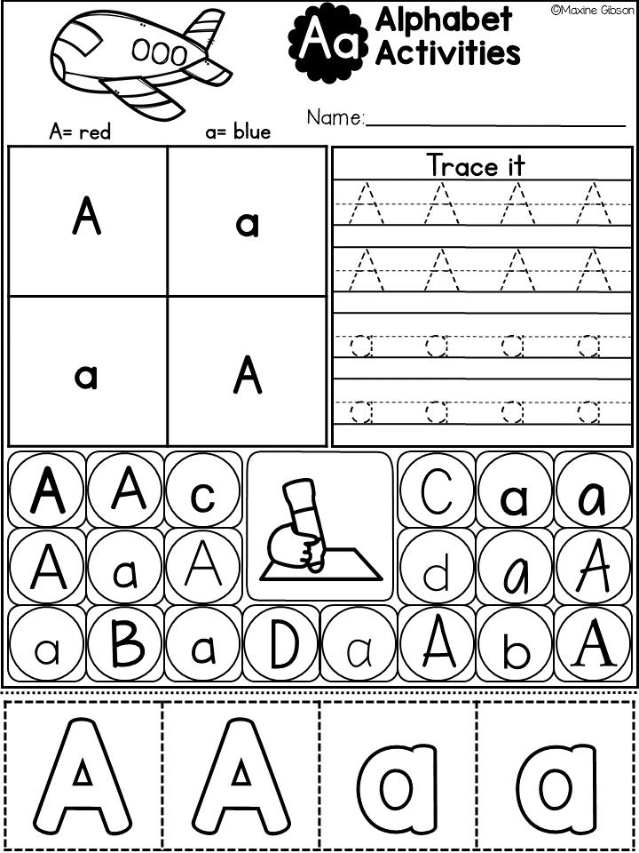 Free Sample Alphabet Activities | TpT FREE LESSONS | Pinterest