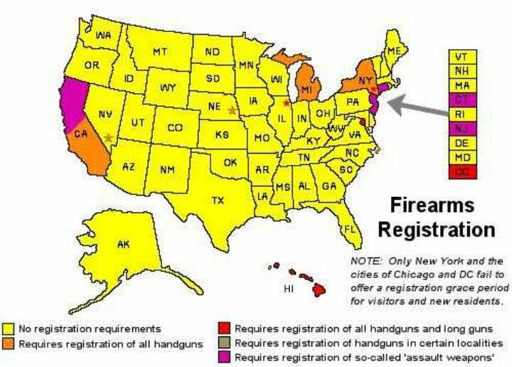 State Registration Map Pro Gun Pinterest Hand Guns Open Carry