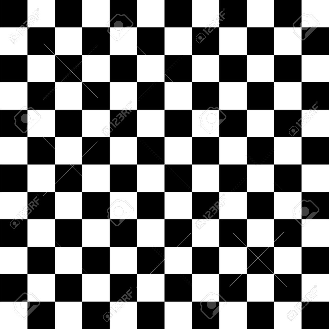 Simple Black And White Checkered Abtract Background Illustration