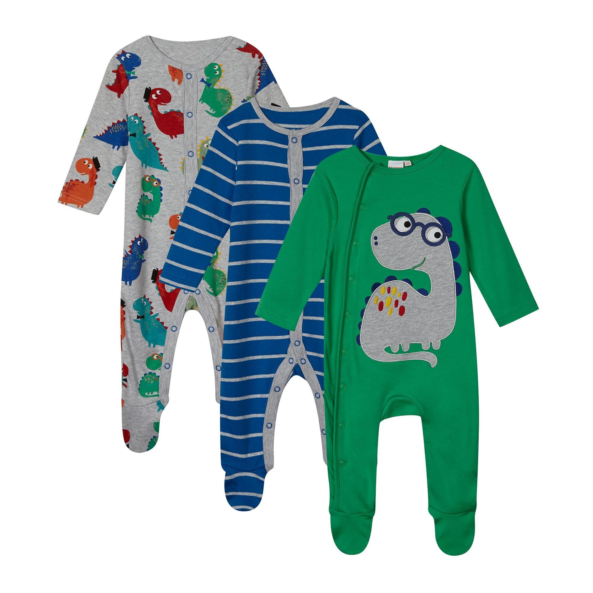 bluezoo Kids Baby Boys Light Blue I Love My Mummy Applique Sleepsuit
