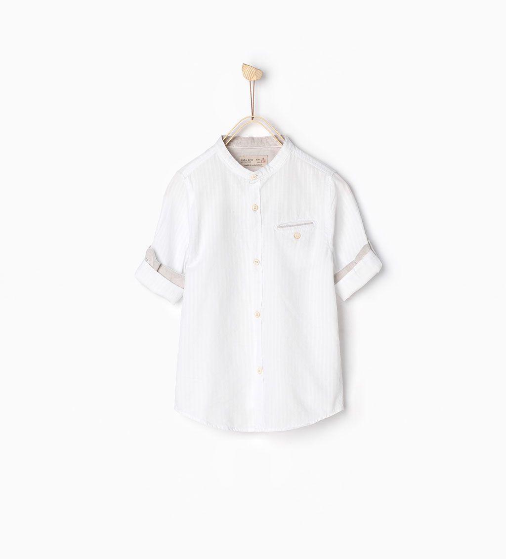 image 1 de chemise manches retroussables de zara. Black Bedroom Furniture Sets. Home Design Ideas