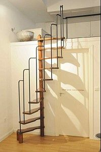 a possible alternative to a ladder in a tiny house stairs pinterest treppe dachboden und haus. Black Bedroom Furniture Sets. Home Design Ideas