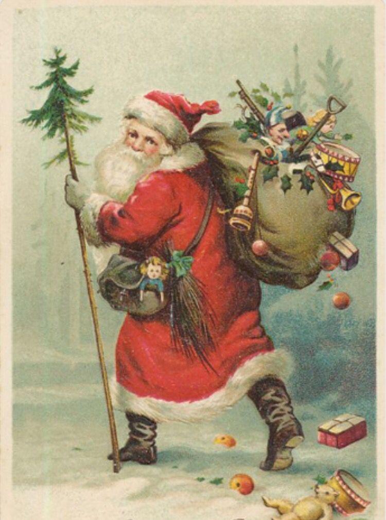 Vintage old world Santa. Modge podge and sugar to make Christmas ...
