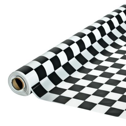 Mini Cornhole Toss Black and White Checkered Race Car Themed Bags