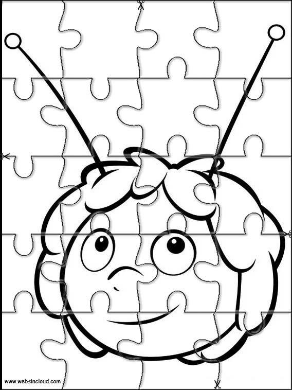 Actividades imprimibles Rompecabezas recortables para niños Abeja M ...
