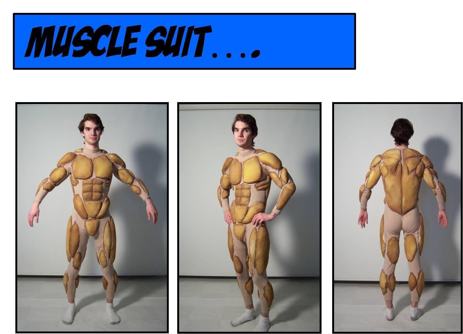 Traje musculos falsos piernas