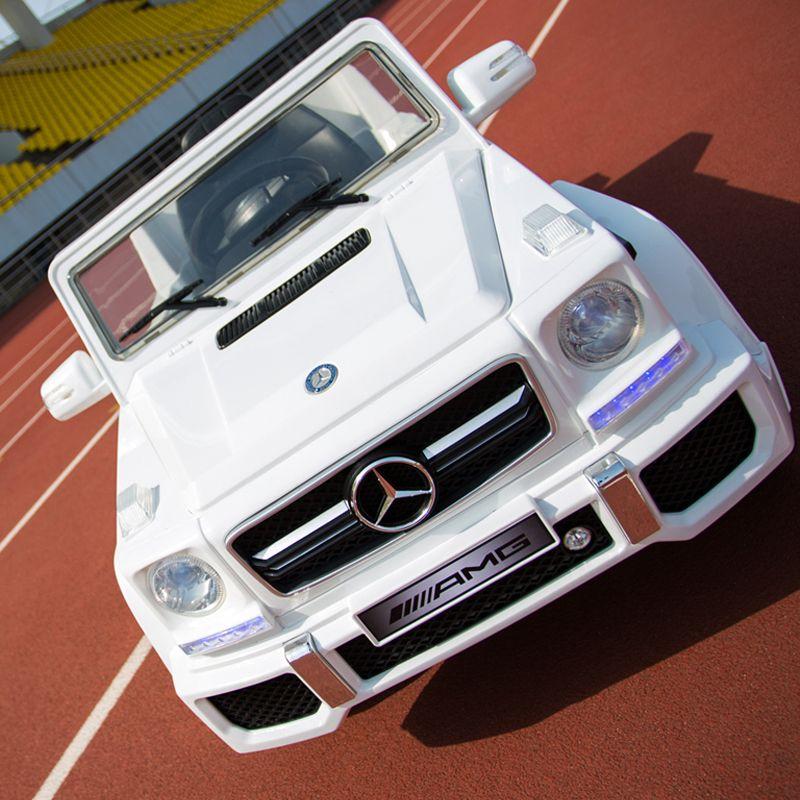 Plastic White Mercedes Benz G65 Kids Car Car Mercedes Jeep