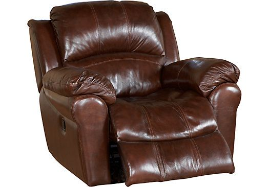 Casaro Brown Leather Glider Recliner At home furniture