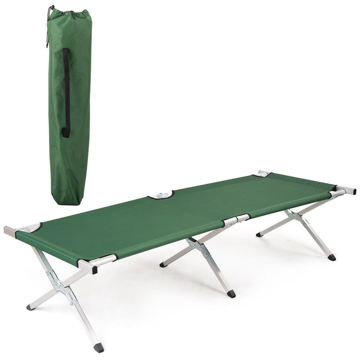 - Foldable Camping Hiking Bed Portable Military Cot Carrying Bag