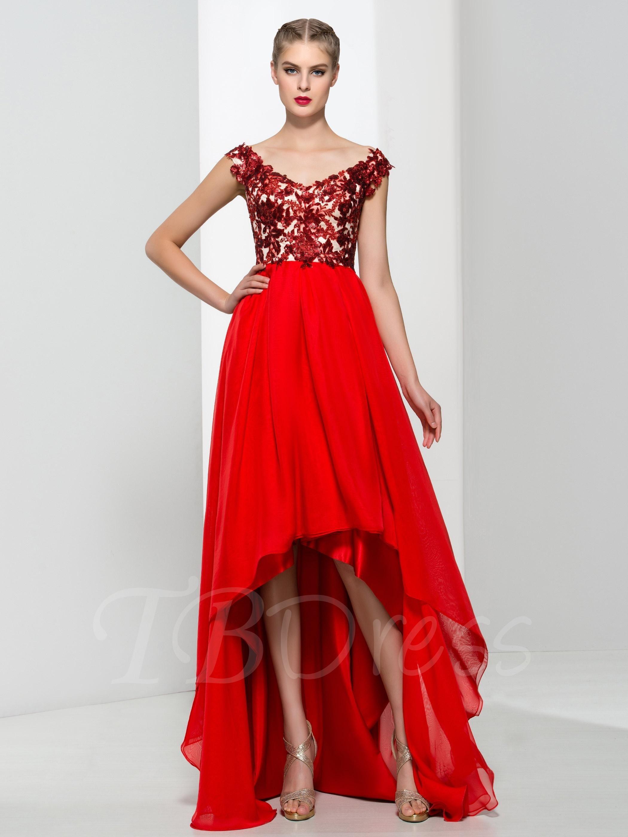Aline asymmetrical length sequins prom dress sequin prom dresses