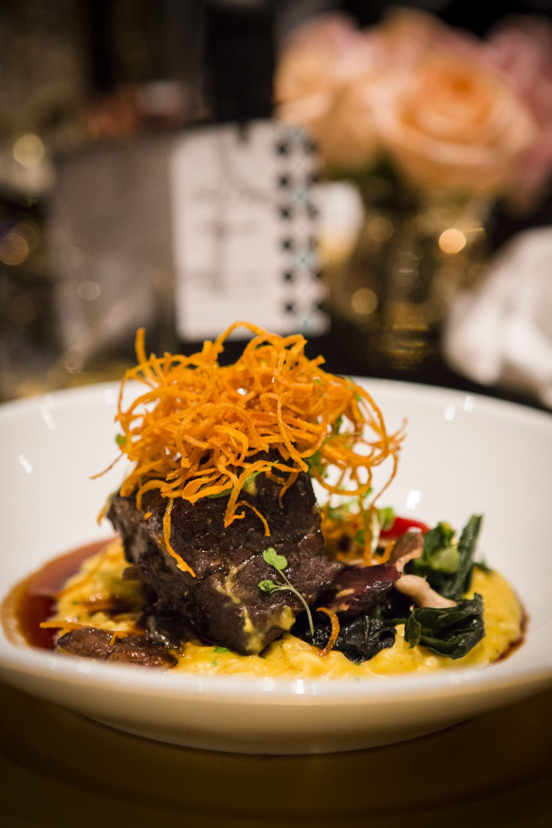9ea0879e90 Braised Boneless Beef Short Rib with Butternut Squash Risotto ...