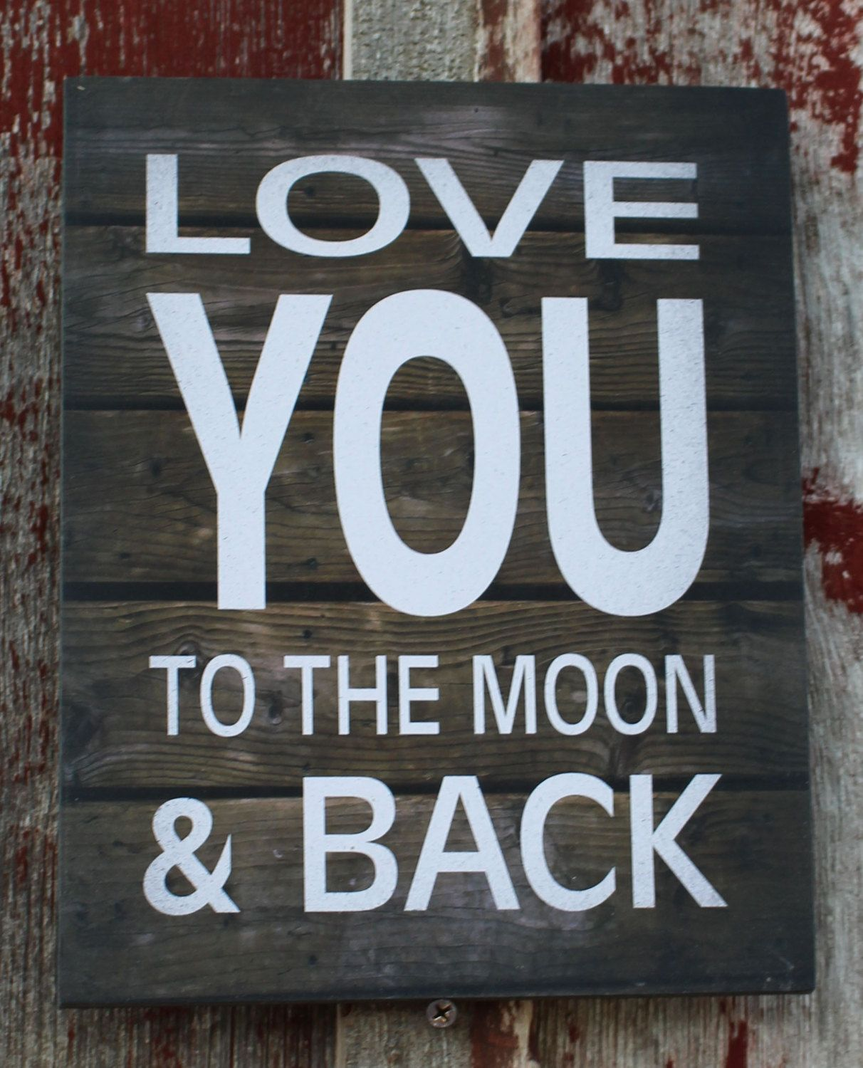 Love You To The Moon & Back - Wood Sign, Canvas Wall Hanging (Large) - Christmas, Birthday, Mother's Day, Anniversary by HeartlandSigns on Etsy