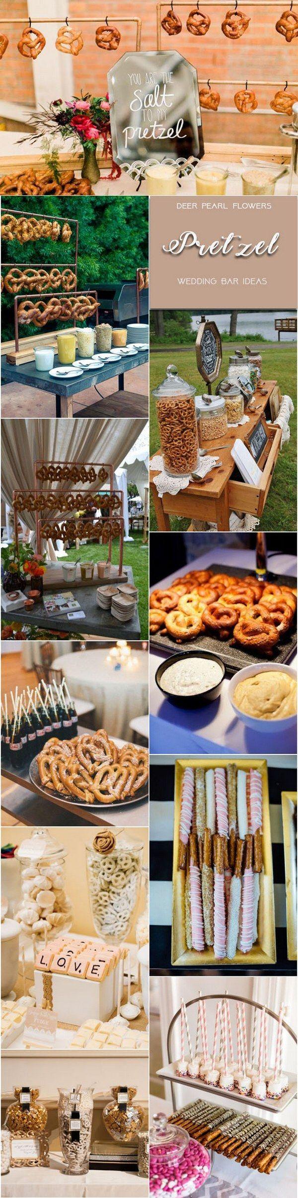 Rustic Pretzel Wedding Dessert Food Bar For Wedding Reception Http