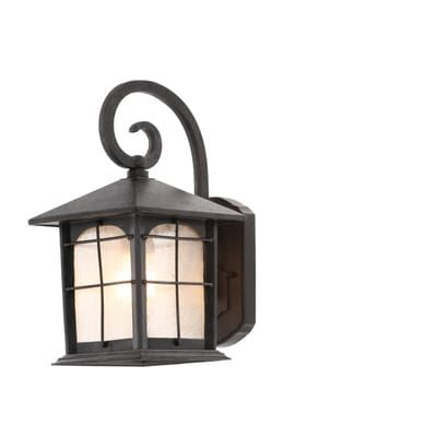 Home Decorators Collection Brimfield 1 Light Aged Iron Outdoor Wall Lantern Y37029a 151 The Depot