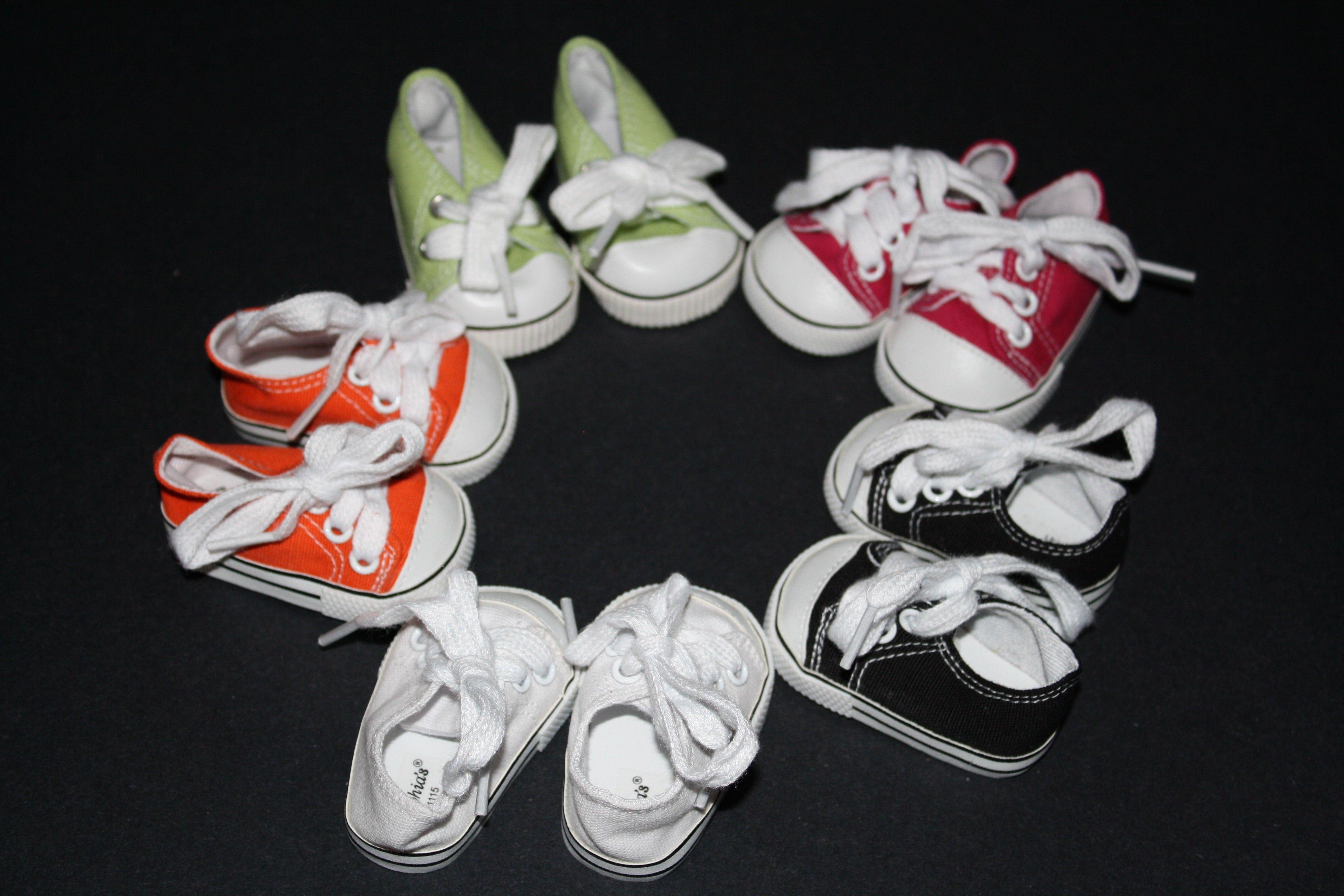 """Red Tennis Sneakers for American Girl 18/"""" Doll Shoes MOST SELECTION AT LOVVBUGG"""