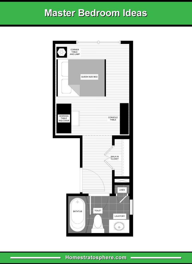 13 Primary Bedroom Floor Plans Computer Layout Drawings Master