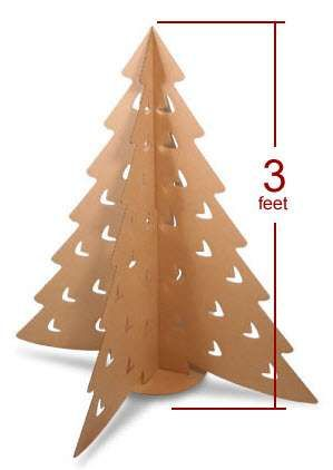 Flat Pack Holiday Decor Cardboard Christmas Tree Diy Christmas Tree Christmas Paper Crafts