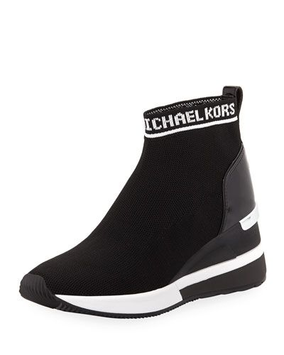187576a95ec Michael Michael Kors Skyler Stretch-Knit Sneaker Booties
