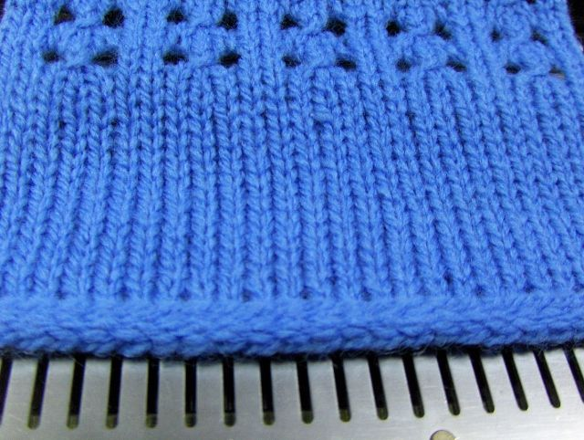 Another Machine Knitting Cast-On Technique | Knitting machine ...