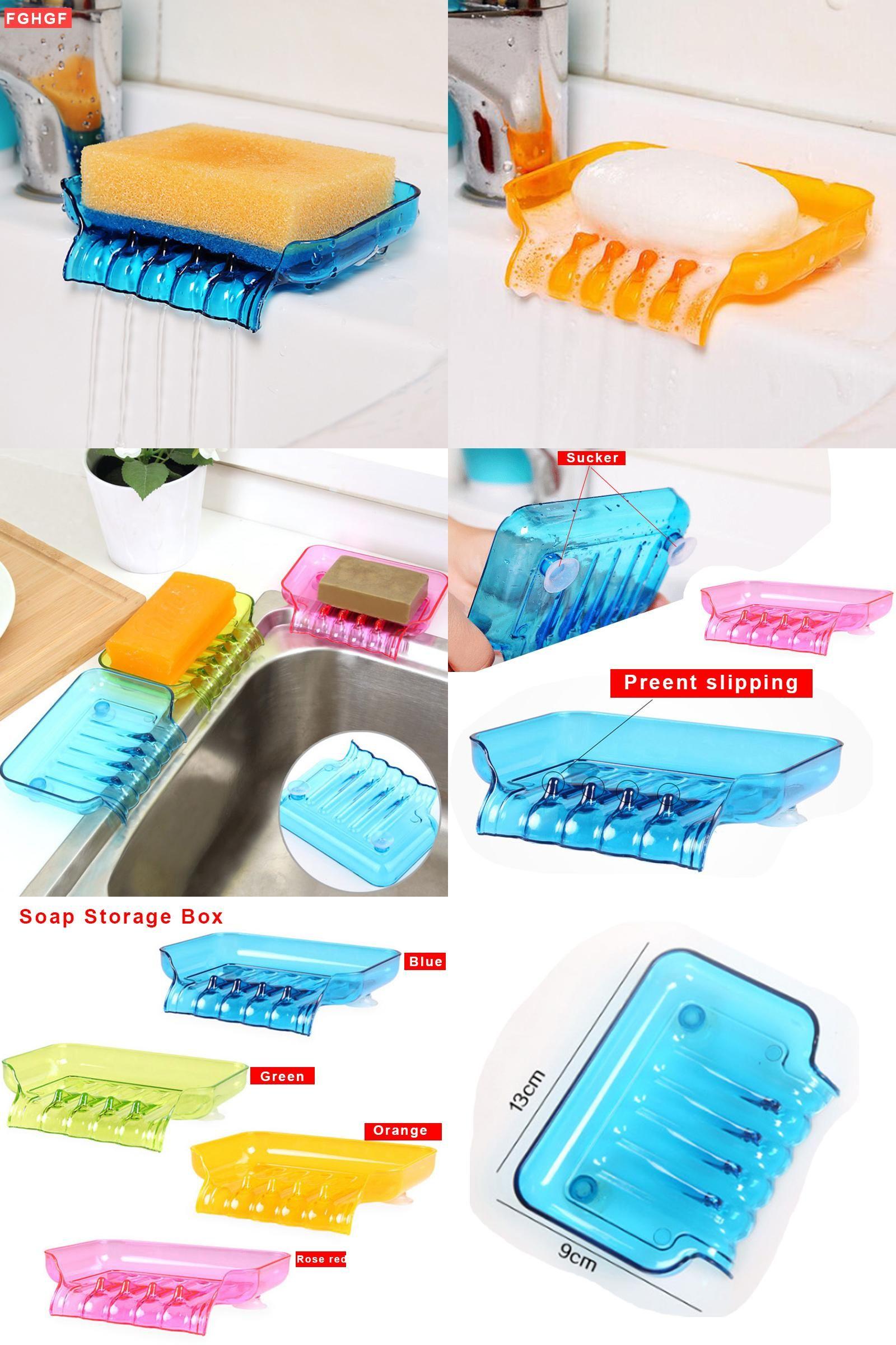 Visit to Buy] New Soap Storage Box Dish Case Makeup Organizer Water ...