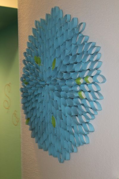 Green and chic:  Toilet Paper Roll art installations.  Who knew?