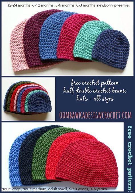 Half Double Crochet Hat Pattern Pinterest Half Double Crochet