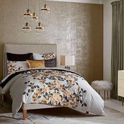 Cork Wallpaper With Gold Flecks
