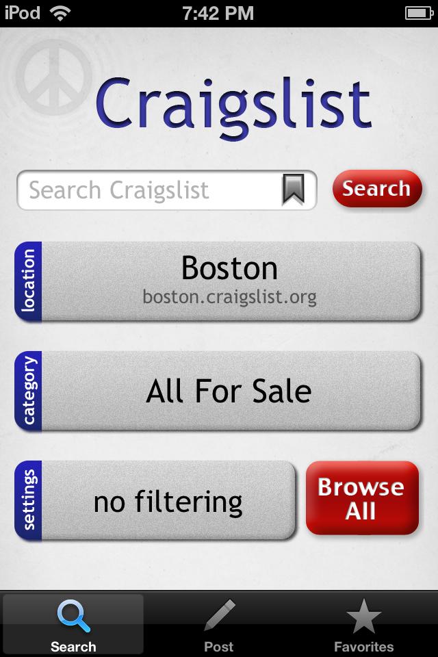 Make Sense Of Craigslist On The Go App Iphone Apps Job