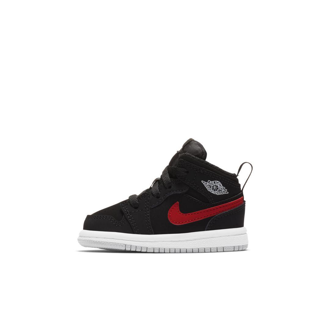 designer fashion a3d63 ec575 Air Jordan 1 Mid Infant Toddler Shoe Size 9C (Black)
