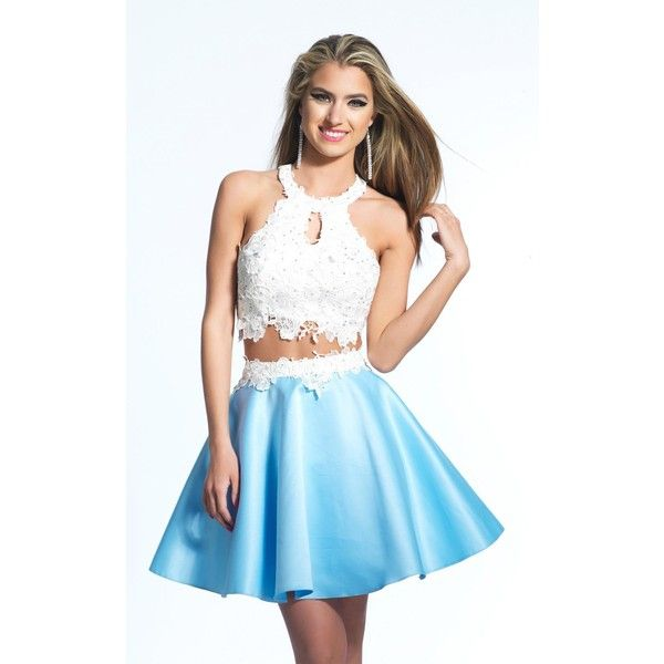 Dave and Johnny 1857 After Prom Mini High Neckline Sleeveless ($210 ...