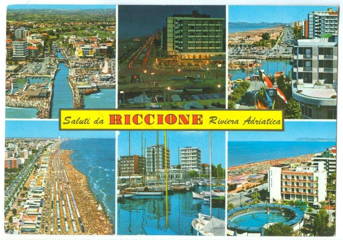 Italy Saluti Di Riccione Riviera Adriatica 1970 Used Postcard