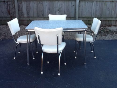 1950's Formica Chrome Dining Set - similar to the one in her kitchen